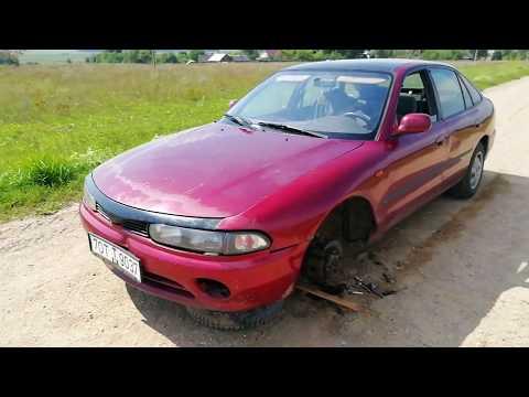 Mitsubishi Galant. Оторвалась колесо, ремонт в полевых условиях