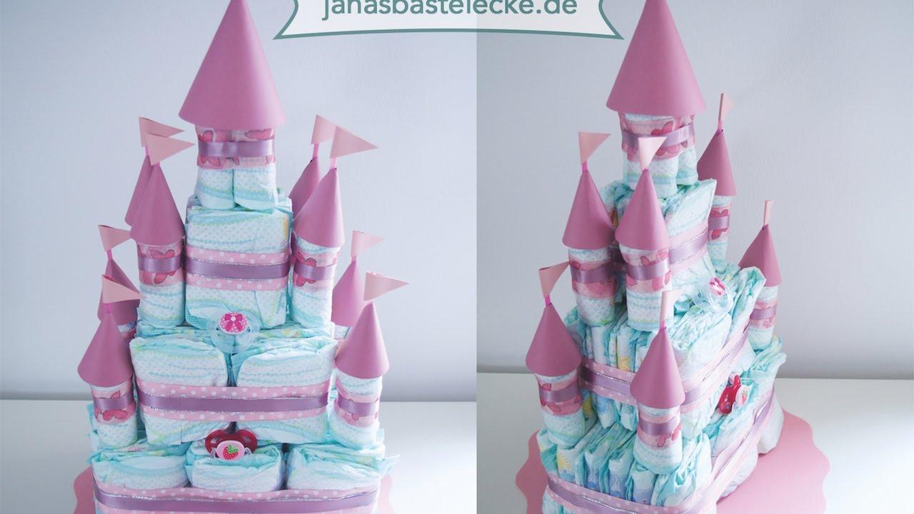 Kreativer Montag 91 Prinzessinnenschloss Windeltorte Youtube