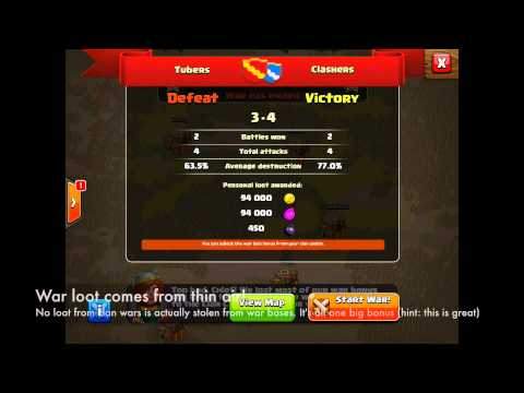 Clash of Clans - Clan Wars: War Loot & Aftermath