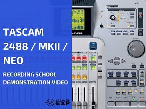 Tascam 2488 Recording School Demonstration Video DVD Help - YouTube
