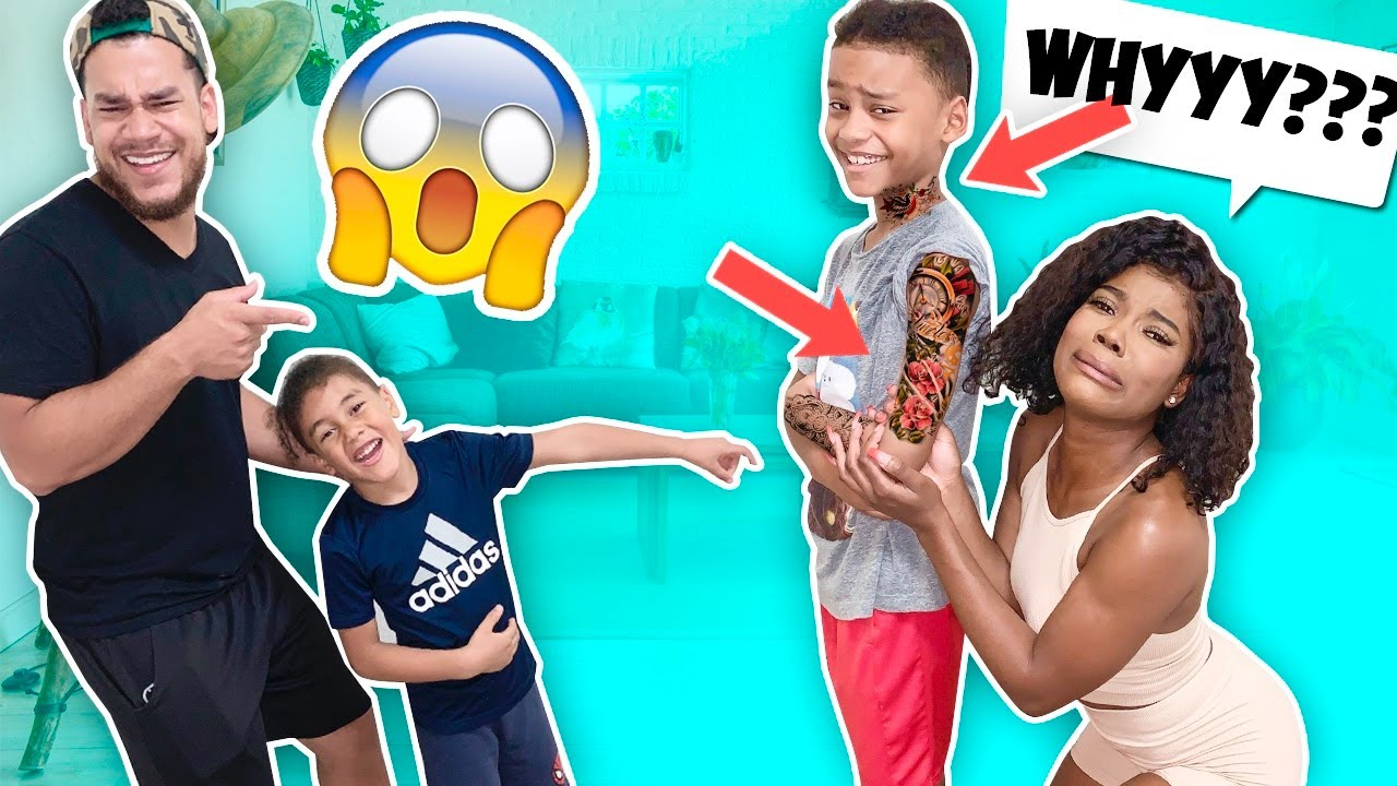 TATTOO Prank On MOM!! **GONE WRONG**