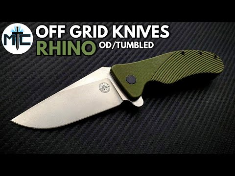 Off Grid Knives Rhino Folding Knife – Stonewashed / OD Green – Overview and Review