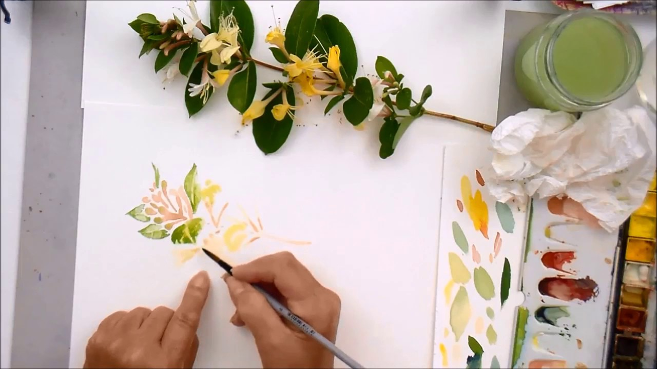 Learn How To Observe, Plan And Paint This Honeysuckle Sprig