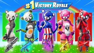 The *RAINBOW* Bear Challenge in Fortnite!
