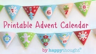 How to make an Advent Calendar: Printable Christmas paper craft: Easy to do - Watch now.