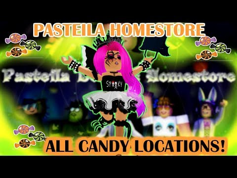 FREE GLOWING WITCH HAT!! PASTEiLA HOMESTORE CANDY LOCATIONS