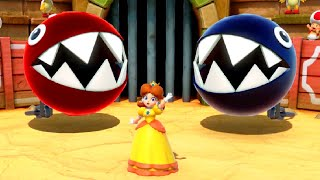 Super Mario Party Minigame Battle - Daisy vs Peach vs Bowser vs Mario