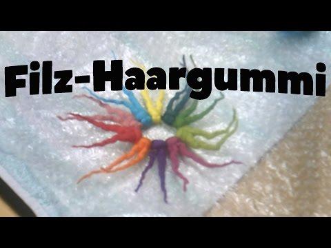 Filz-Haargummi mit Zotteln