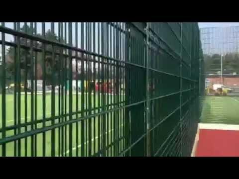 Double sided twin bar rebound sports muga fence