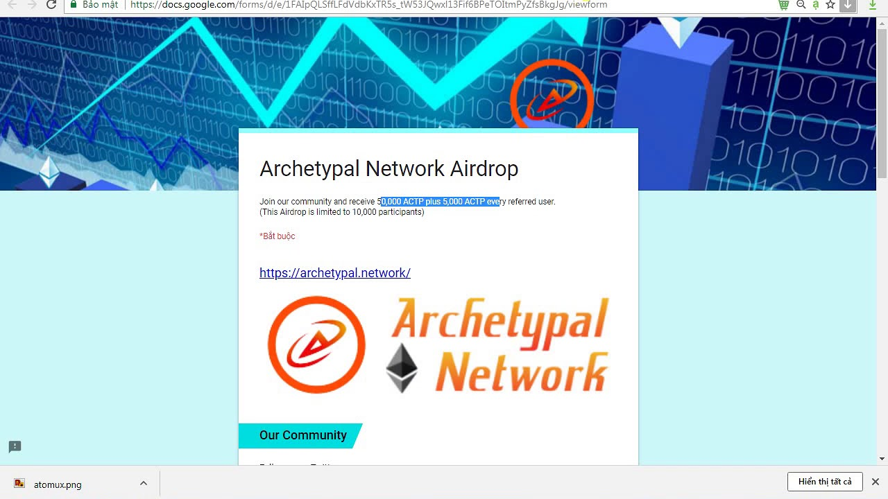 Top 3 airdrop 200K FREE AUX (60$) - 25,000 CBDN Tokens - 50,000 ACTP Tokens