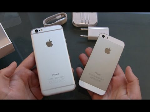 iphone 6 silber unboxing und erster eindruck youtube. Black Bedroom Furniture Sets. Home Design Ideas