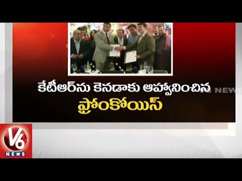 Canada Trade Minister Francois Philippe Champagne Meets IT Minister KTR In Hyderabad | V6 News
