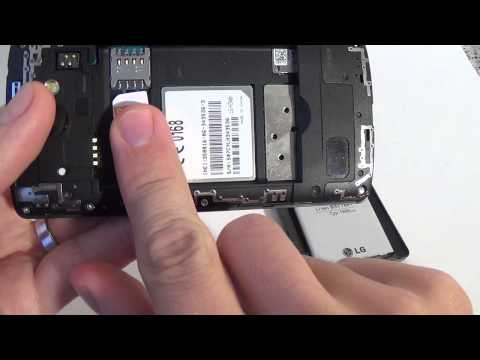 How to put sim card and memory card in Lg Leon 4G LTE H340n