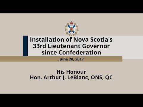 Installation of the Nova Scotia's 33rd Lieutenant Governor since Confederation