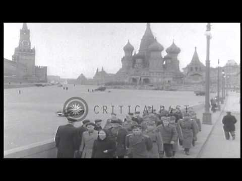 The Soviet Premier Joseph Stalin delivers a speech in Moscow,Soviet Union. HD Stock Footage