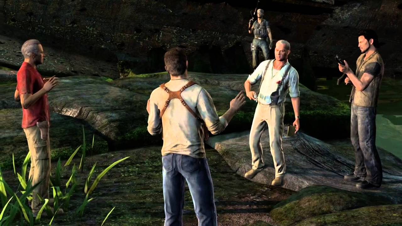 Uncharted Drake S Fortune Sully Shot Reporter Friend Back