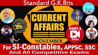 current affairs november 2018 part-1, expected questions from Inspire Academy.