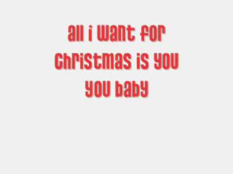 Mariah Carey- All I Want For Christmas Is You (lyrics)