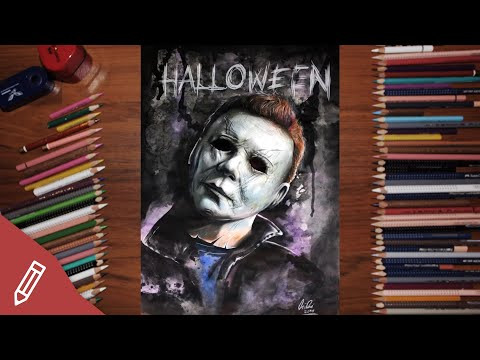 DRAWING MICHAEL MYERS | Halloween 2018 | Film Review