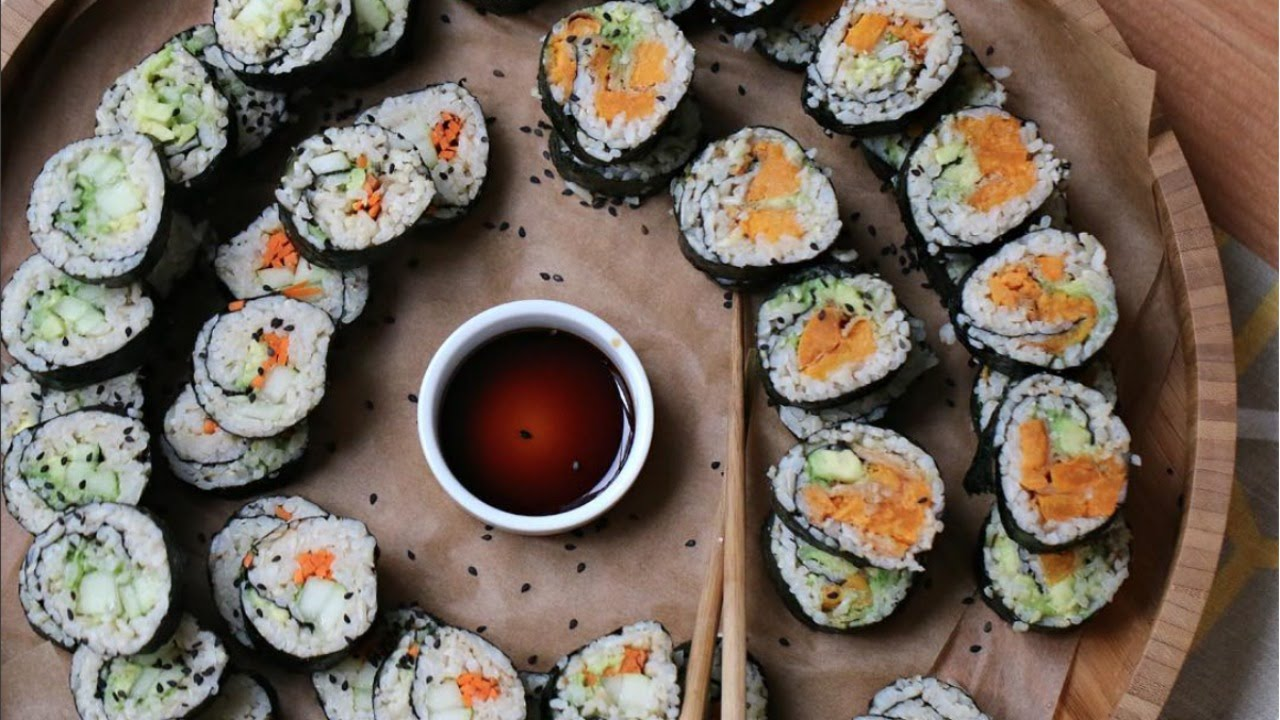 How To Make SUSHI + What I Buy Grocery Shopping | Starch Solution