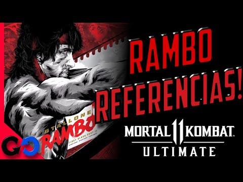 Mortal Kombat 11 Ultimate RAMBO Easter Eggs y REFERENCIAS!