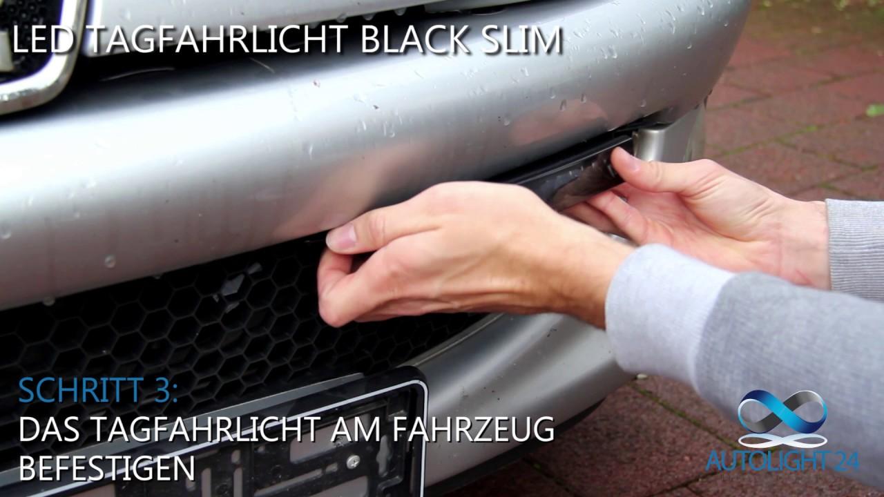 LED Tagfahrlicht Black Slim von AutoLight24 - YouTube