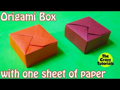 DIY - Origami Box with One Sheet of Paper (easy)