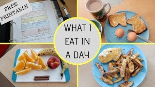 WHAT I EAT IN A DAY ON SLIMMING WORLD || FUSSY EATER || FREE PRINTABLE