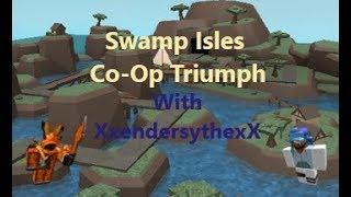 Roblox | TurmSchlachten | Sumpf Inseln | Co-Op | Triumph mit XxenderscythexX (Ender) | Mit Stimme |