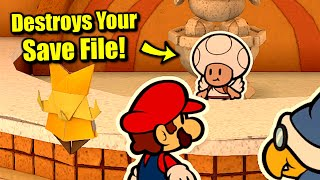 Massive Game Breaking Glitch Destroys Your Save File in Paper Mario: The Origami King