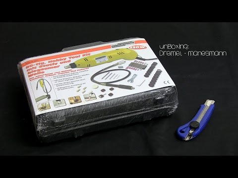 Мини машинка за гравиране 80 части / Mannesmann 92571 / видео
