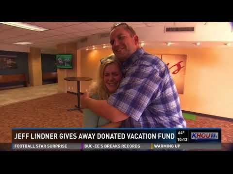 Jeff Lindner gives away donated vacation fund