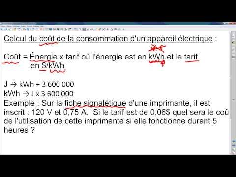 La puissance, l'énergie et le rendement