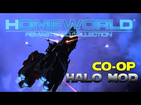 Homeworld Remastered -  Halo Homefront Mod - 3 UNSC Humans Vs The Covenant Fleet