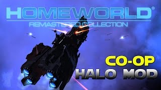 Homeworld Remastered -  Halo Homefront Mod - 3 UNSC Humans Vs The Covenant Fleet