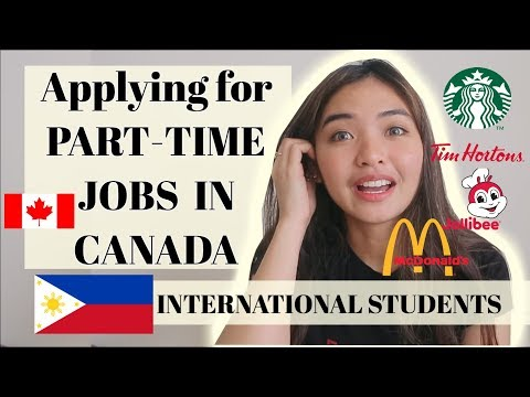 How to Get Part-Time Jobs in Canada for International Students🇨🇦🇵🇭🇮🇳🇧🇷