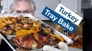 🔵 Glen's Easiest Turkey Dinner - Tray Bake Turkey || Glen & Friends Cooking