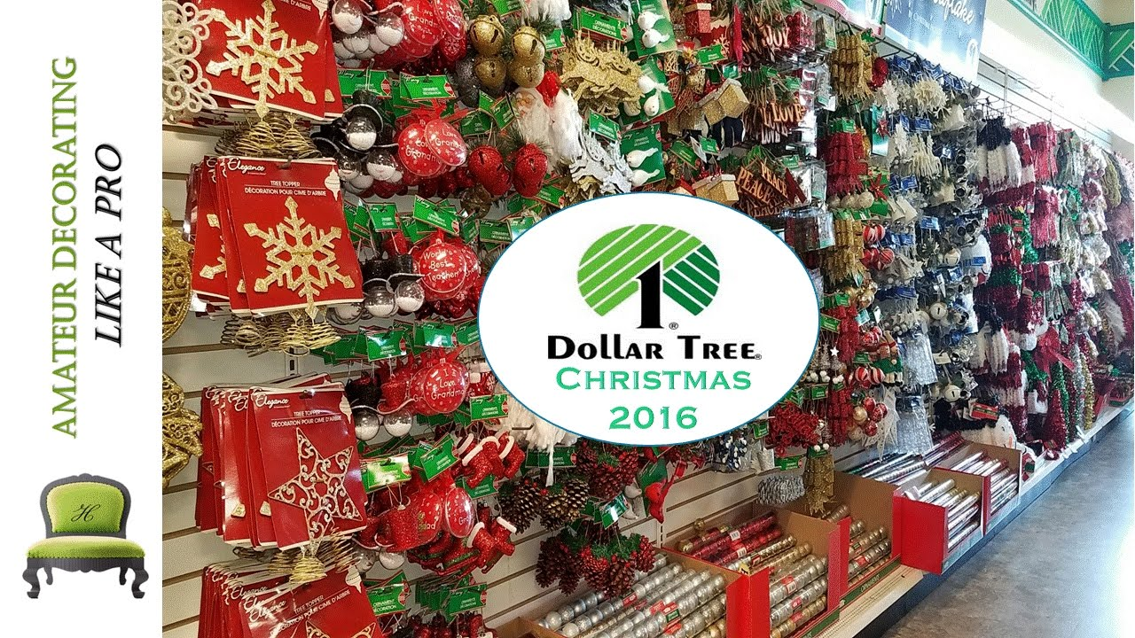 Dollar Tree Christmas Tour 2016 - YouTube