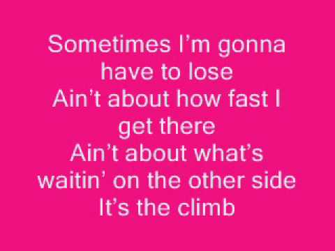 The Climb Hannah Montana+Lyrics