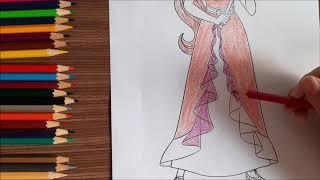 Bé học tô màu cùng Tranh tô màu công chúa Elena  Đồ chơi trẻ em ( Gia Đình Su )