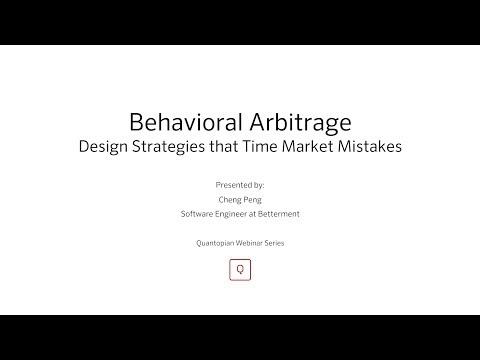 Behavioral Arbitrage Design Strategies that Time Market Mistakes