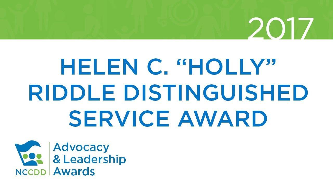 """2017 Helen C. """"Holly"""" Riddle Distinguished Service Award  - Tony Dalton"""