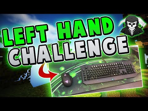LEFT HAND CHALLENGE IS IMPOSSIBLE!! ( Hypixel Skywars Funny Moments )