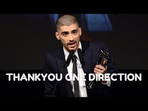 Zayn Malik Thanks One Direction In Acceptance Speech!!!