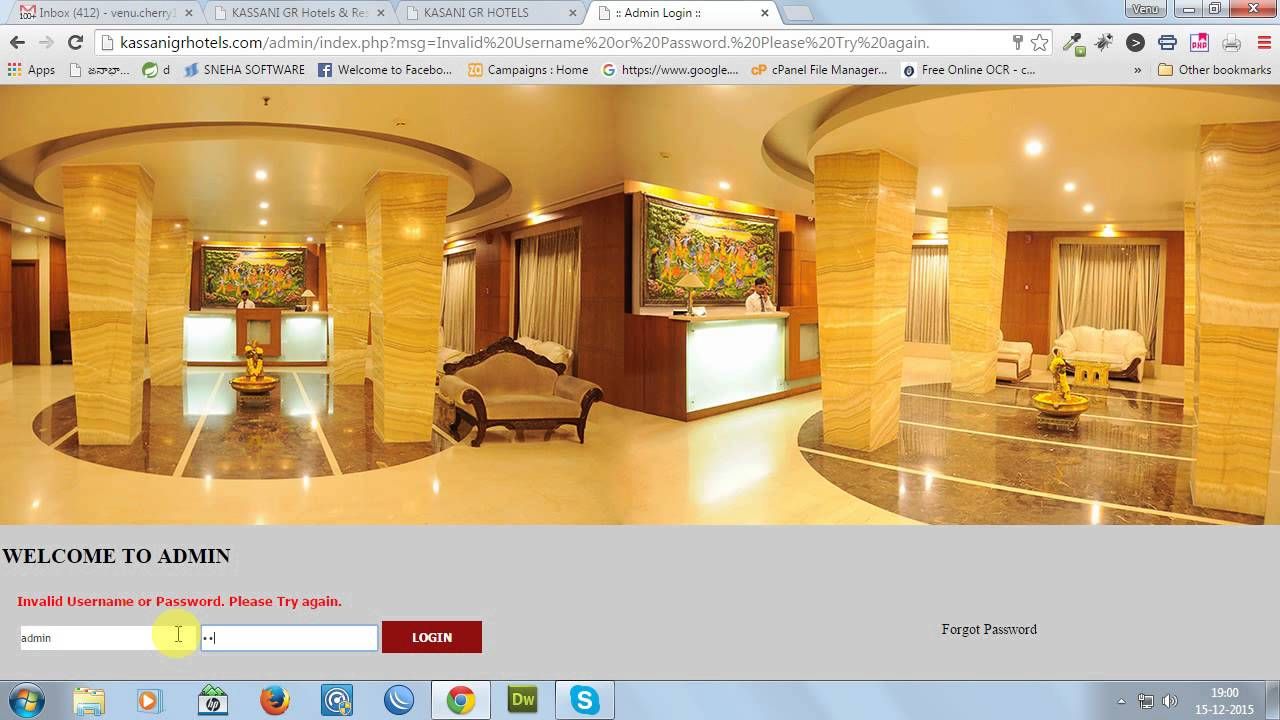 Hotel Rooms Online Booking Management System