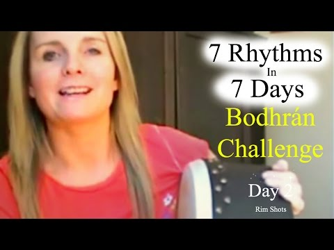 How To Play Bodhran Rim Shots / Stick Clicks - Day 2 Of 7 Rhythms In 7 Days Bodhran Challenge
