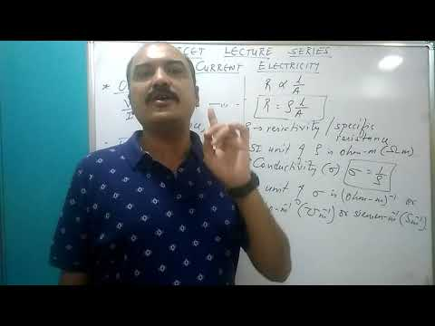 Gujcet lecture series. Chp 3. Current electricity.