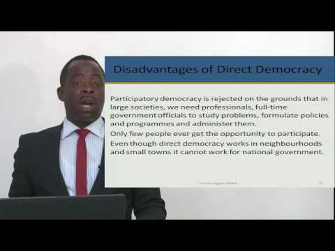 POLI 111: SESSION 5 - CONTEMPORARY FORMS OF GOVERNMENT DEMOCRACY