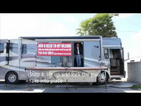 Add a deck to your RV - YouTube.flv