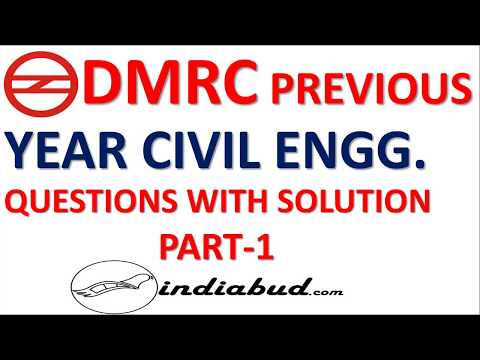 DMRC JE 2014  FULL PAPER CIVIL ENGINEERING PART-1 WITH ANSWER